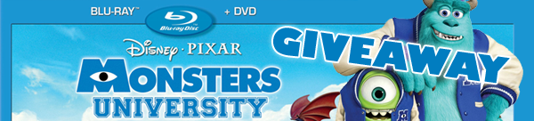 Giveaway: Monsters University Blu-ray/DVD Combo!