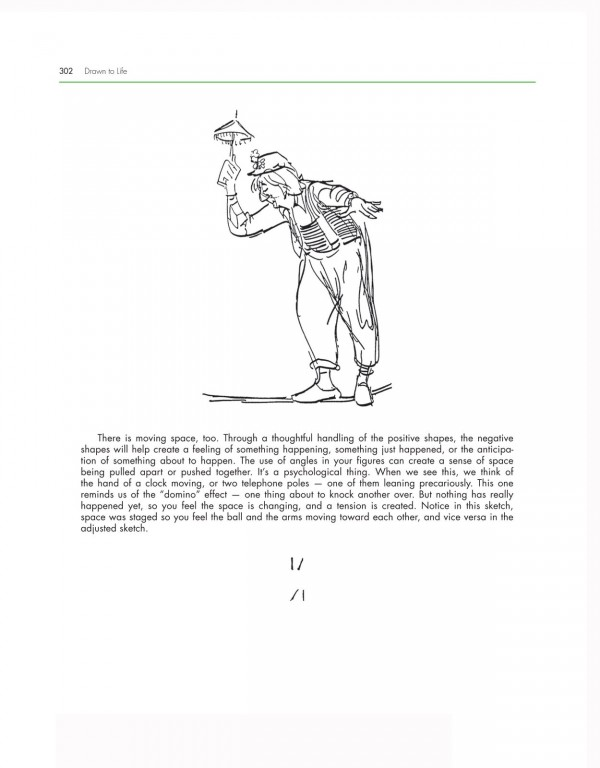 A sample of the blending of text and drawings found in the books.