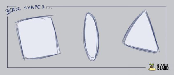 Base Shapes for Character Design Challenge