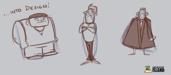 Transforming shapes in character designs