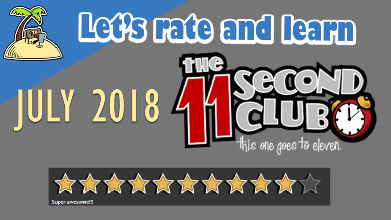 11 SecondClub July 2018 – Let's rate and learn