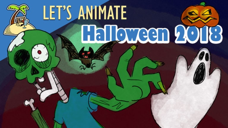 Let's animate – Halloween – Zombies from the grave animation