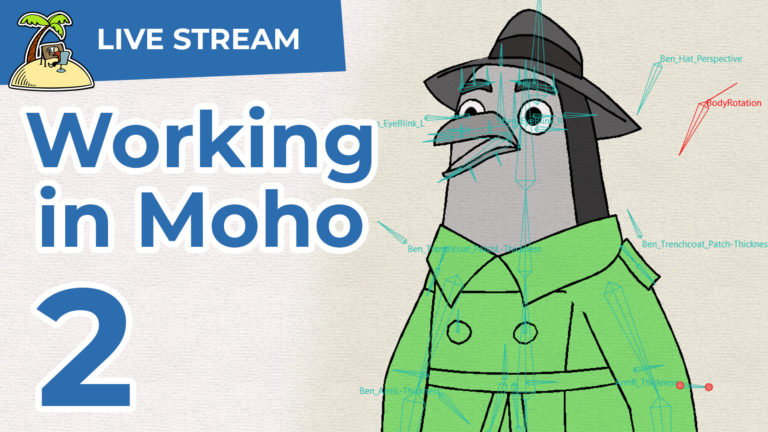Rigging and animation in Moho – live stream