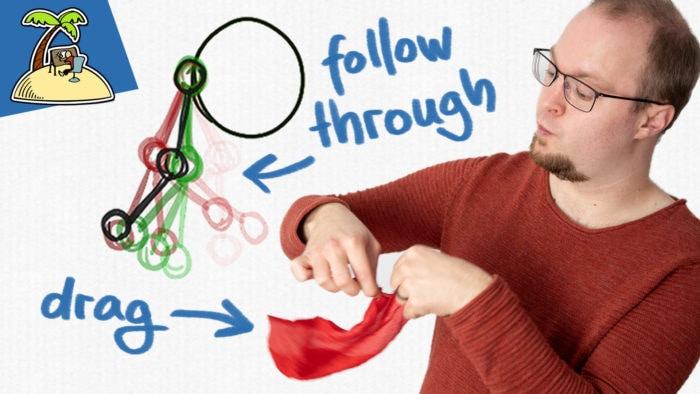 Easiest way to animate follow through: straight ahead